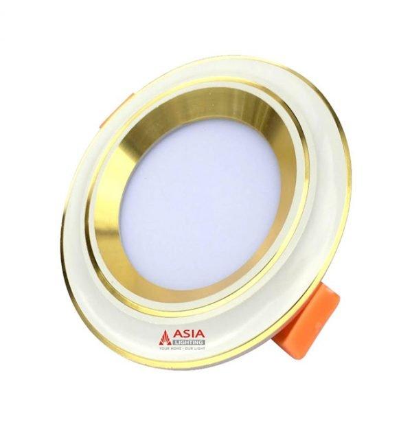 Đèn led âm trần mặt lõm viền vàng nhạt MLG Asia