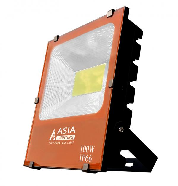 Đèn Pha Led 100W Asia - vỏ cam