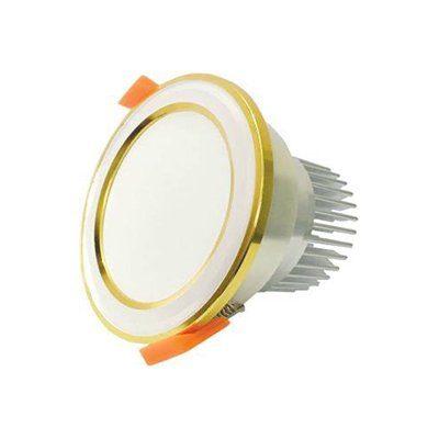 Đèn LED âm trần mặt bạc viền vàng MBVAsia
