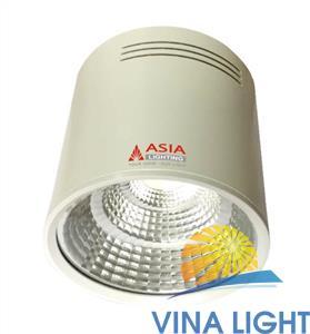 Đèn Led ống bơ ASIA 10W OBT vỏ trắng