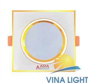 Đèn led âm trần đổi màu vuông mặt vàng MVV7 Asia