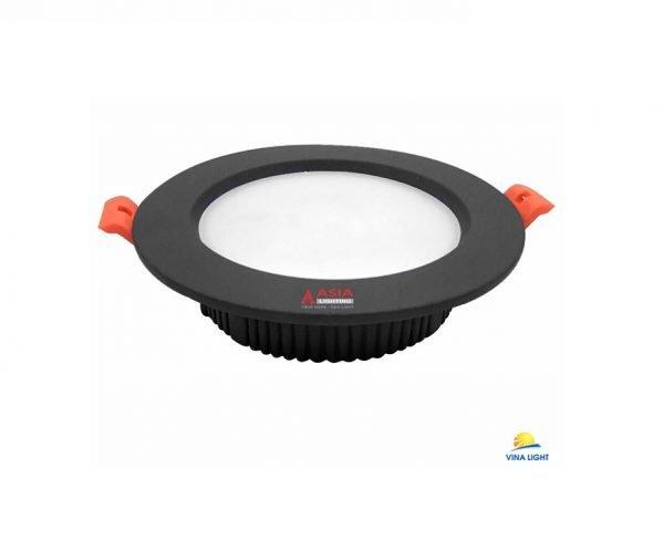 Đèn LED âm trần tròn mặt đen MTD Asia