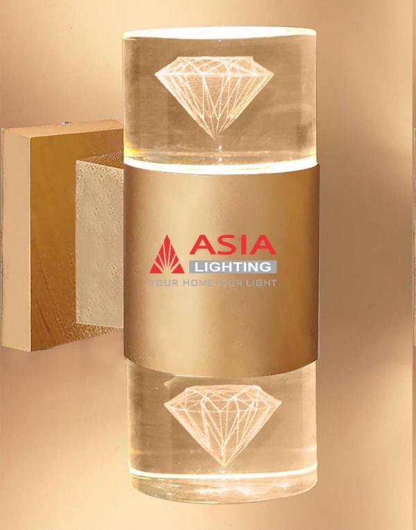 Đèn tường hai đầu kim cương màu đồng 12w DTU-KC Asia