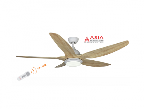 Quạt trần đèn cao cấp 48w QT02 - G - Gỗ phong cách Asia