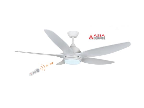Quạt trần đèn cao cấp 48w QT02 - T - Trắng sang trọng Asia