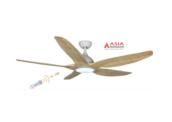 Quạt trần đèn cao cấp 48w QT03 - G - Gỗ phong cách Asia