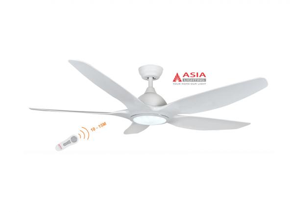 Quạt trần đèn cao cấp 48w QT03 - T - Trắng sang trọng Asia