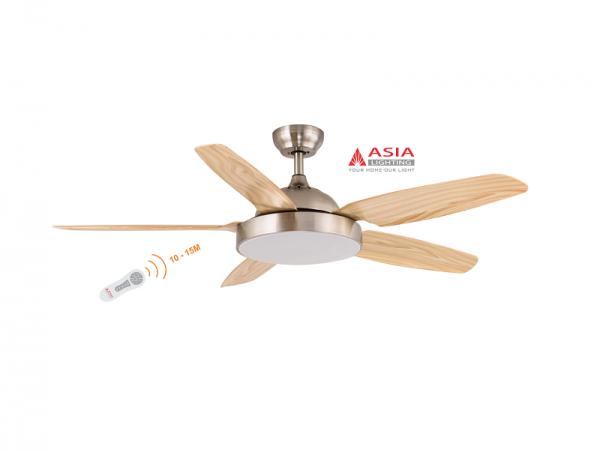 Quạt trần đèn cao cấp 48w QT04 - G - Gỗ phong cách Asia