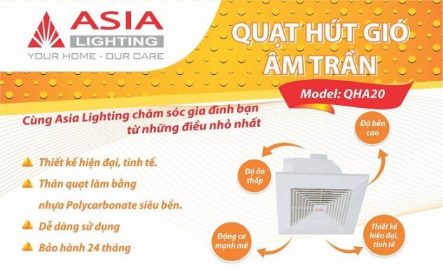 Quạt hút gió âm trần QHA Asia